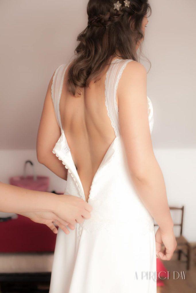 un mariage entre Lille et Lens - La robe la mariée