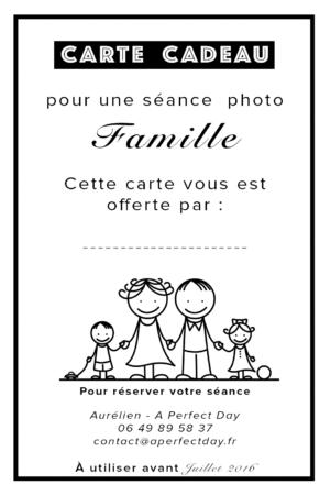 carte cadeau séance photo famille à Lille et dans le nord