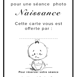 carte cadeau photo naissance