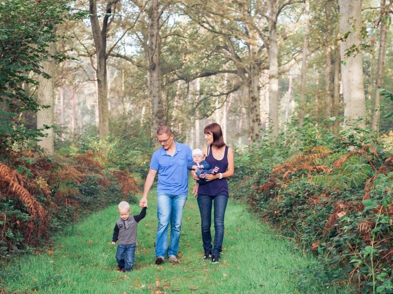 photo de famille dans la forêt de Marchiennes