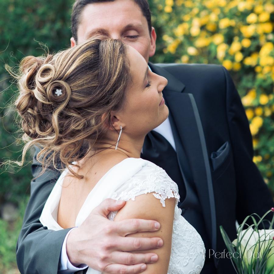 Mariage de Sophie & Olivier - Séance photo de couple avec les mariés