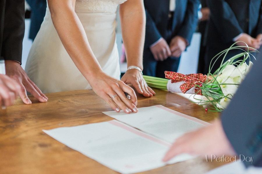 Mariage de Sophie & Olivier - La signature des registres