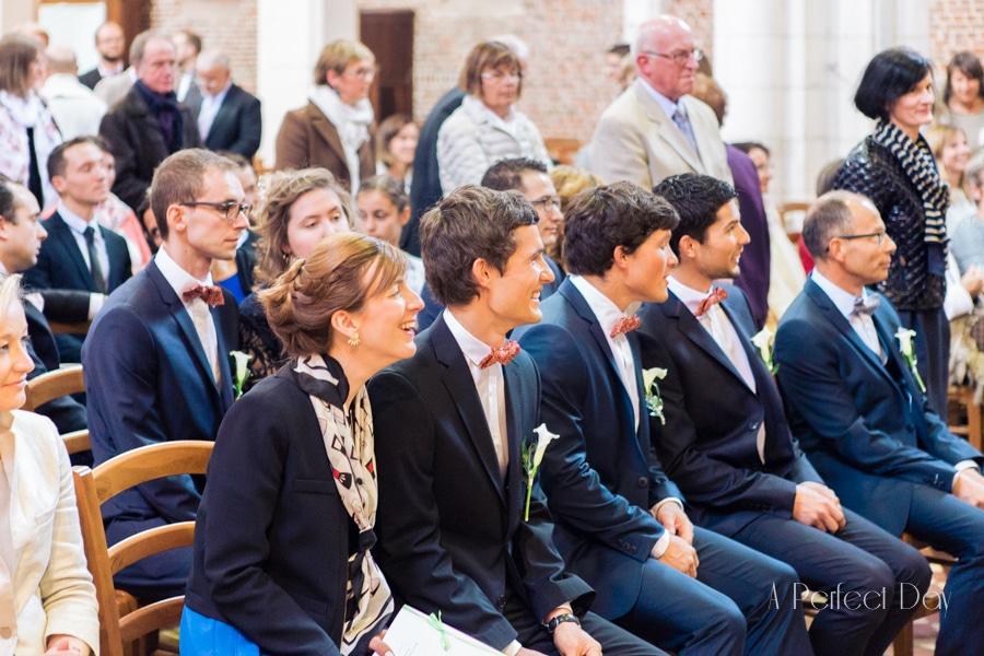 Mariage de Sophie & Olivier - les invités dans L'église de Maroeuil