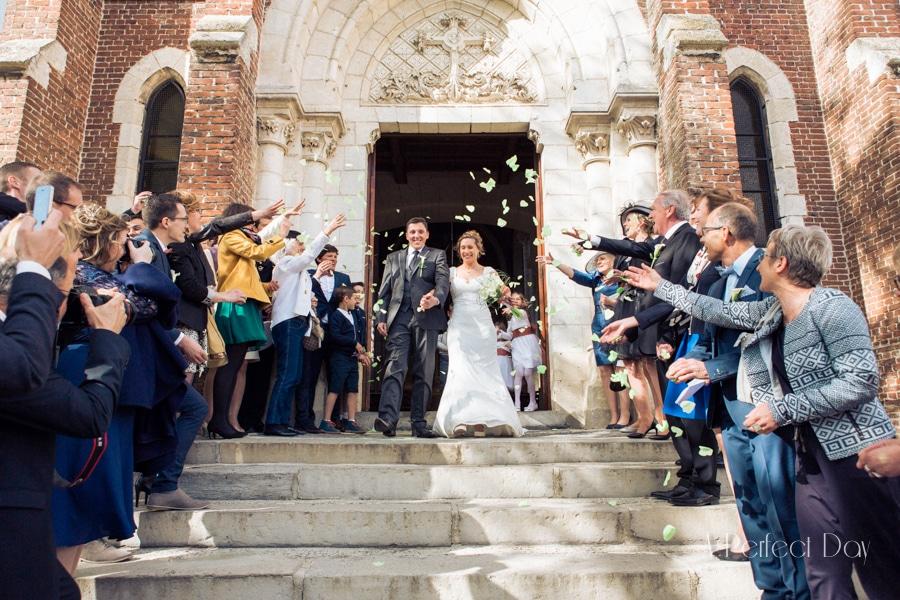 Mariage de Sophie & Olivier - la sortie des mariés