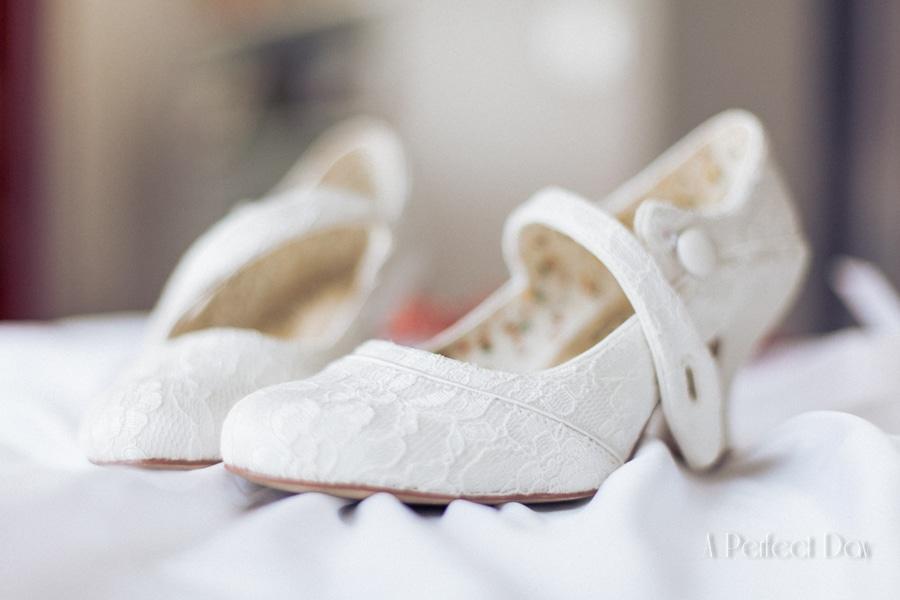 Mariage de Sophie & Olivier - Les chaussures de la mariée
