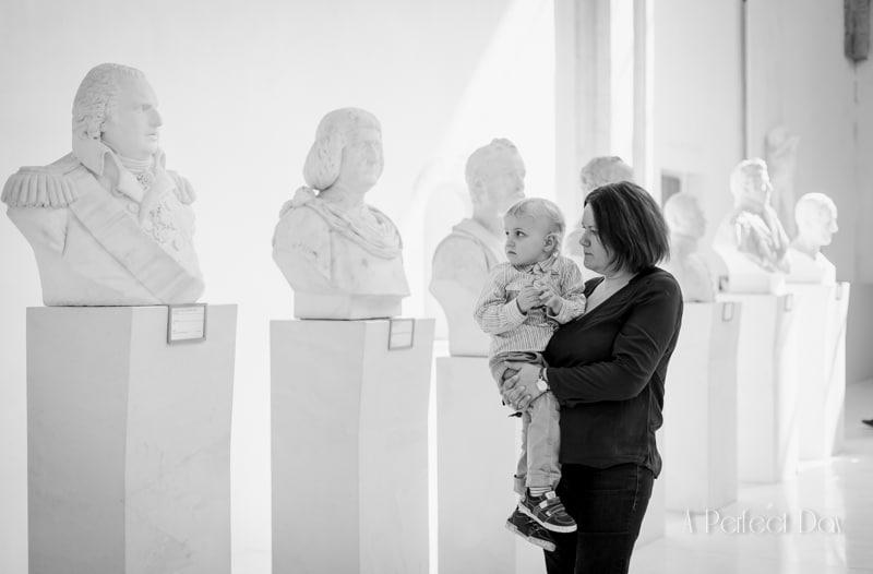 séance photo en famille au musée
