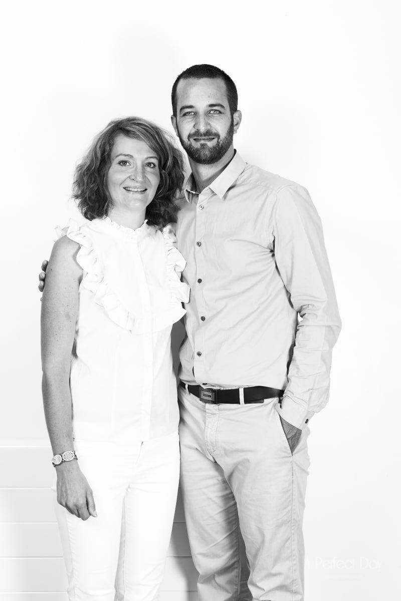 Portrait de couple en studio