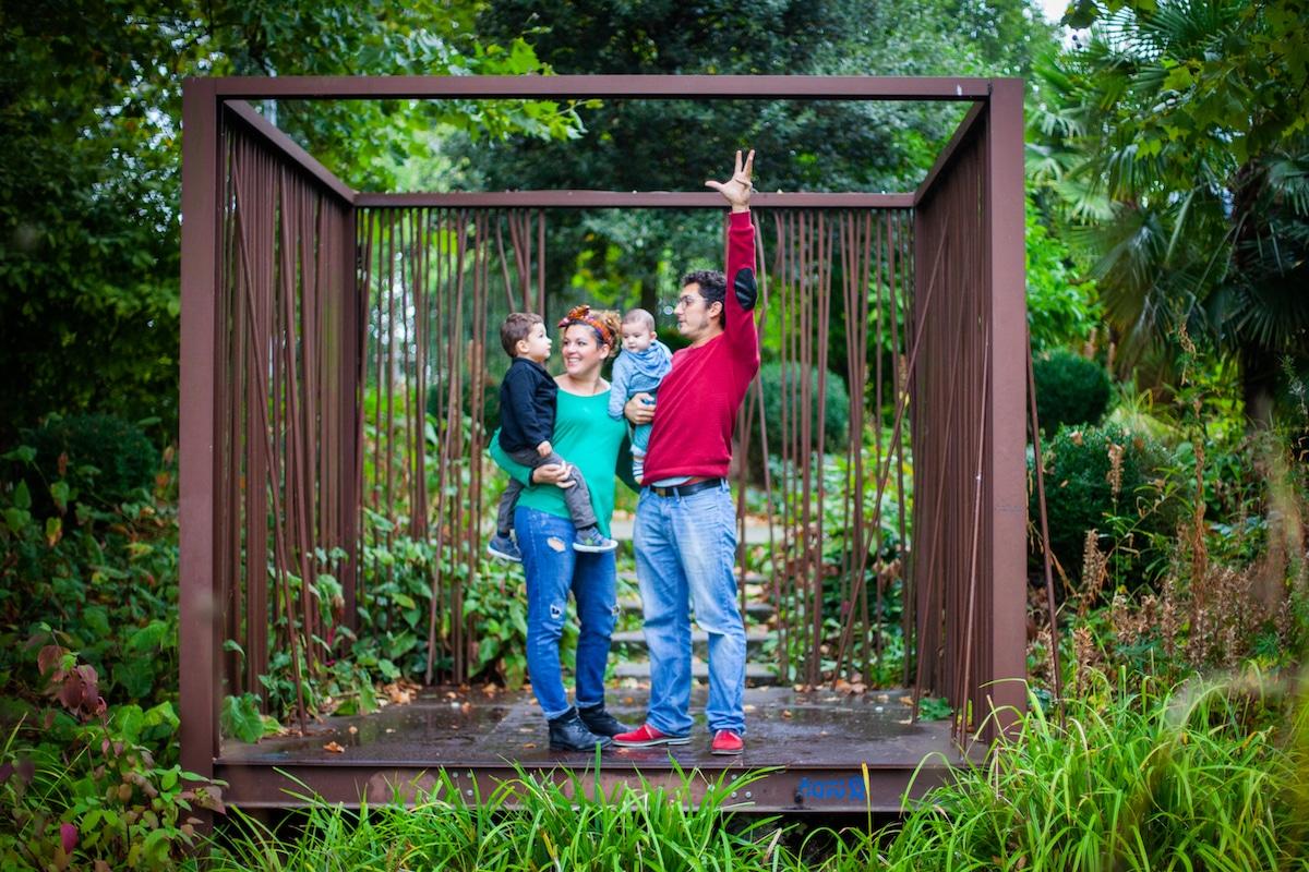 Séance photo famille au parc des géants à Lille