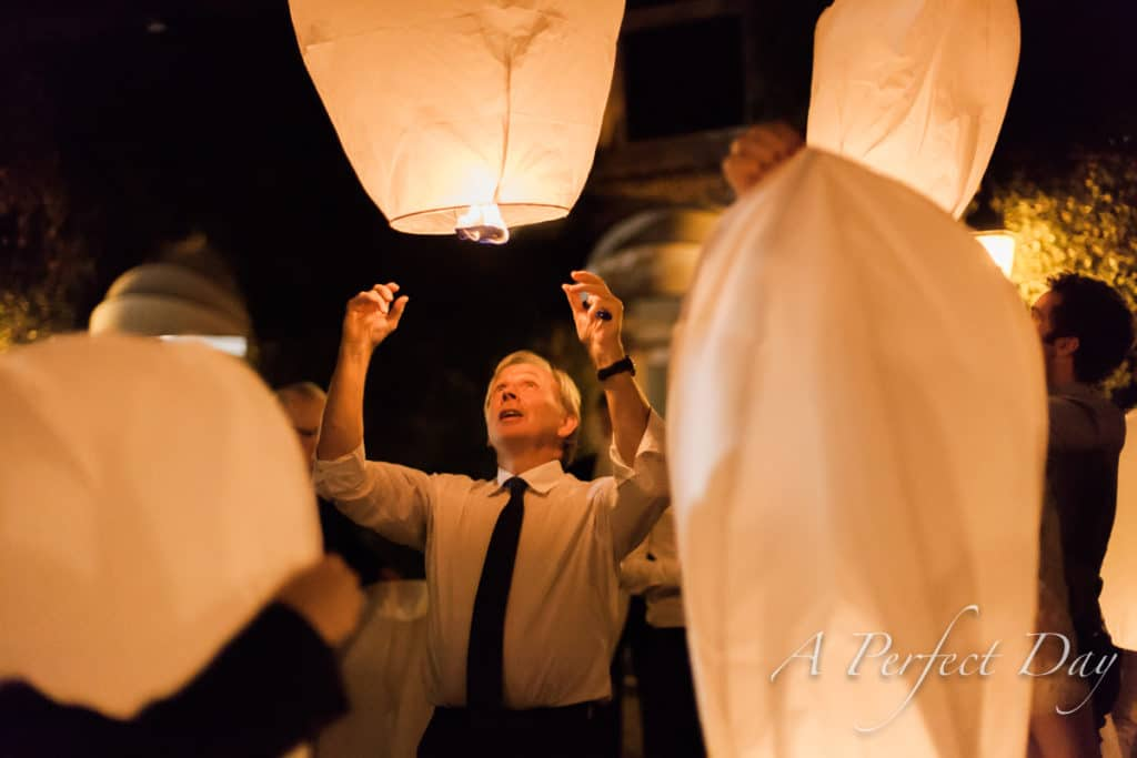 Un mariage à Valenciennes - Réception à la Gentilhommière - Lâché de lanternes célestes