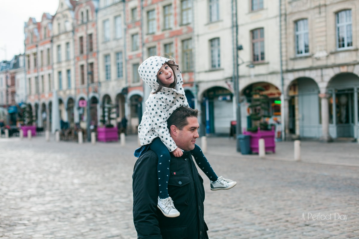 Shooting Famille à Arras, place des Héros et Grand'Place