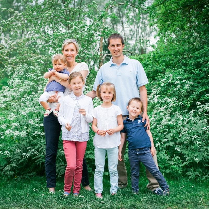 portrait de famille au lac du Héron à Villeneuve d'Ascq