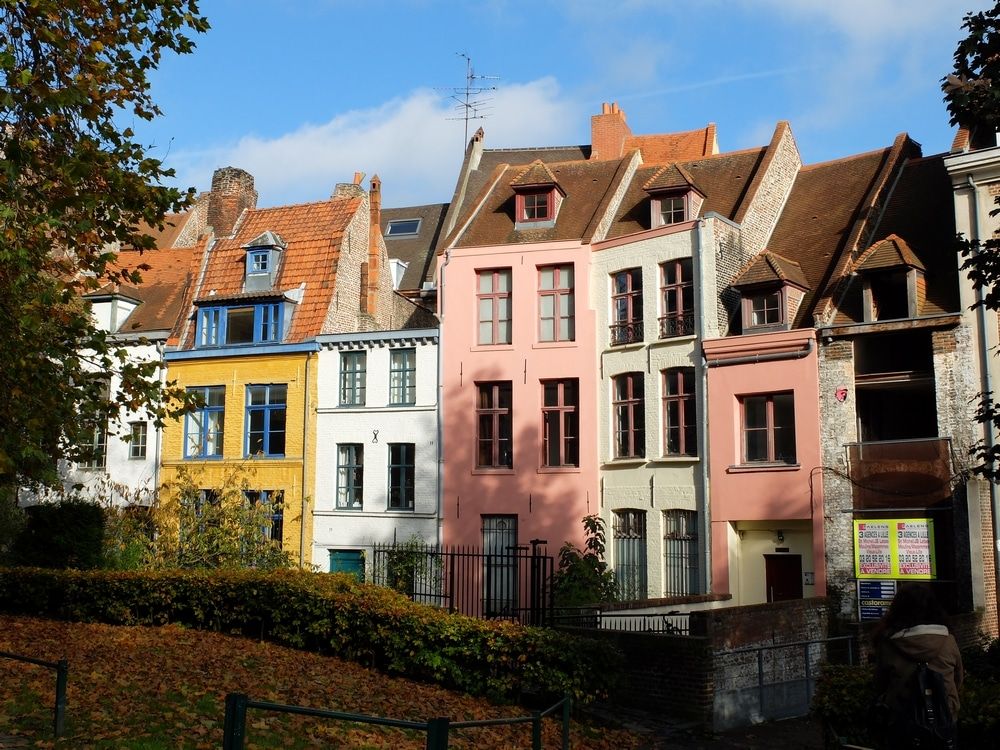 quelques maisons colorées du vieux-lille
