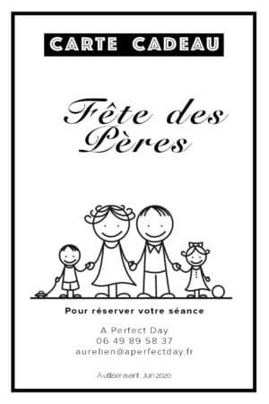 carte cadeau photo pour la fête des pères