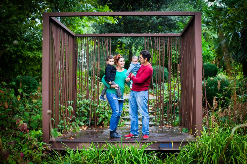 photo de famille au parc des géants à lille