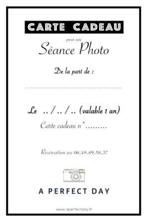 Carte cadeau pour une séance photo à Lille et région Nord