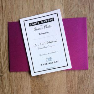 carte cadeau pour une seance photo famille, naissance, grossesse ou couple