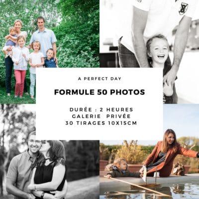 bon cadeau pour une séance photo valable sur les shootings photo famille, bébé, couple et studio | 1 heure de shooting, 50 photos HD + 30 tirages 10x15cm