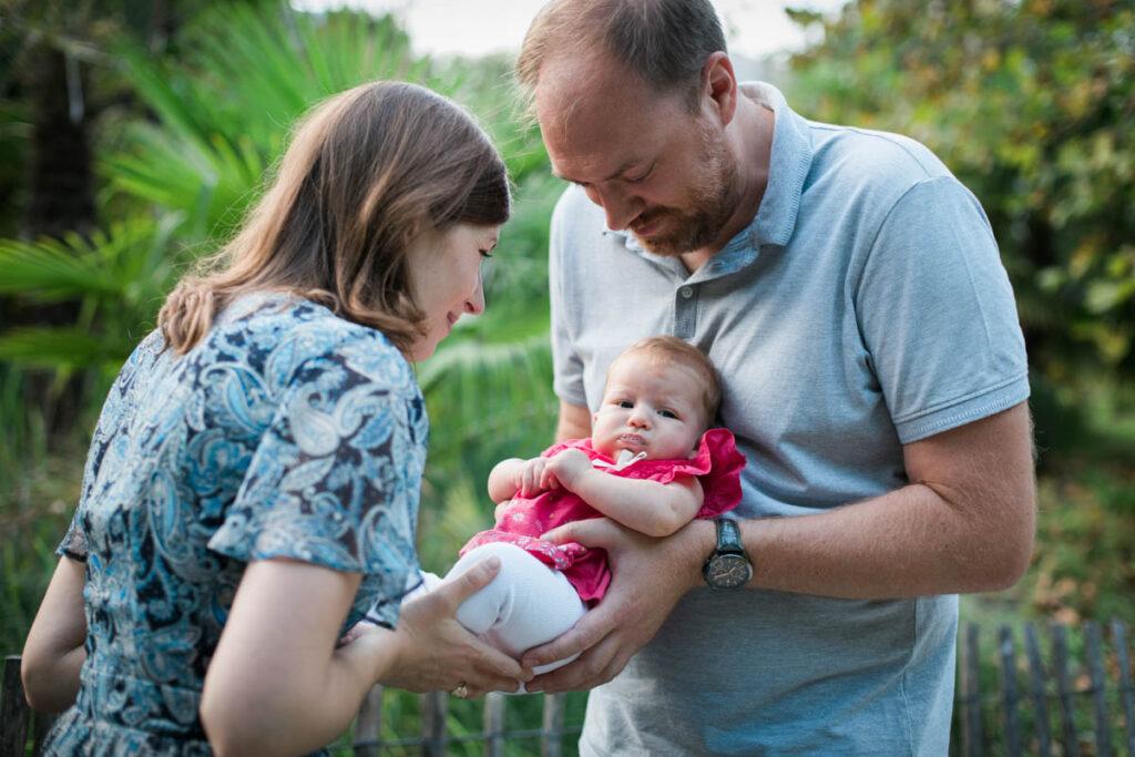 séance photo bébé en extérieur