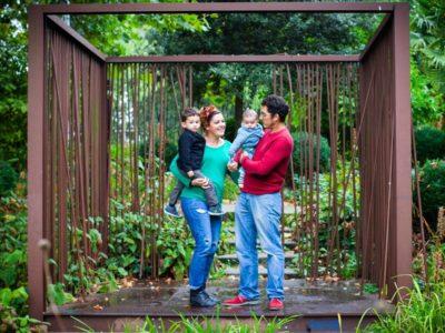 photographe famille à Lille - Séance photo au jardin des géants