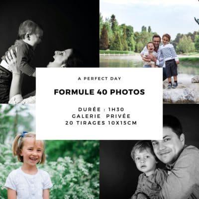 bon cadeau pour une séance photo valable sur les shootings photo famille, bébé, couple et studio | 1 heure de shooting, 40 photos HD + 20 tirages 10x15cm