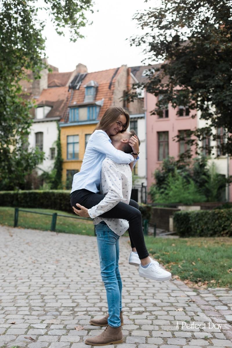 Séance photo couple au jardin de la treille à Lille