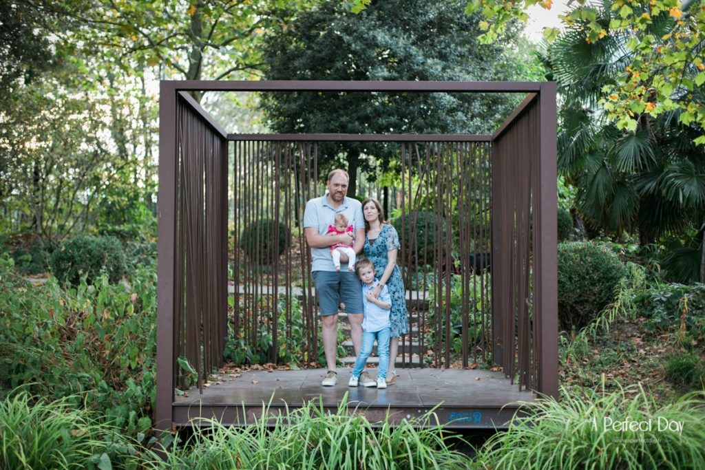 photos de famille au jardin des géants à Lille