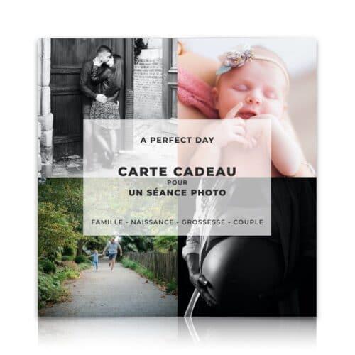 carte cadeau pour une séance photo famille, naissance, couple ou grossesse