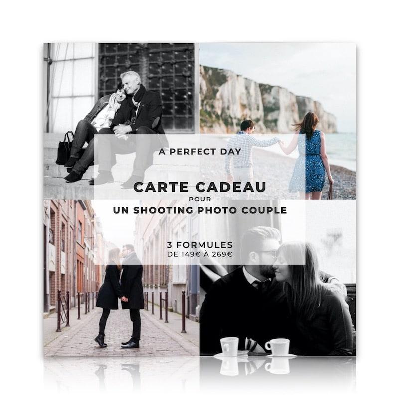 carte cadeau pour un shooting photo couple