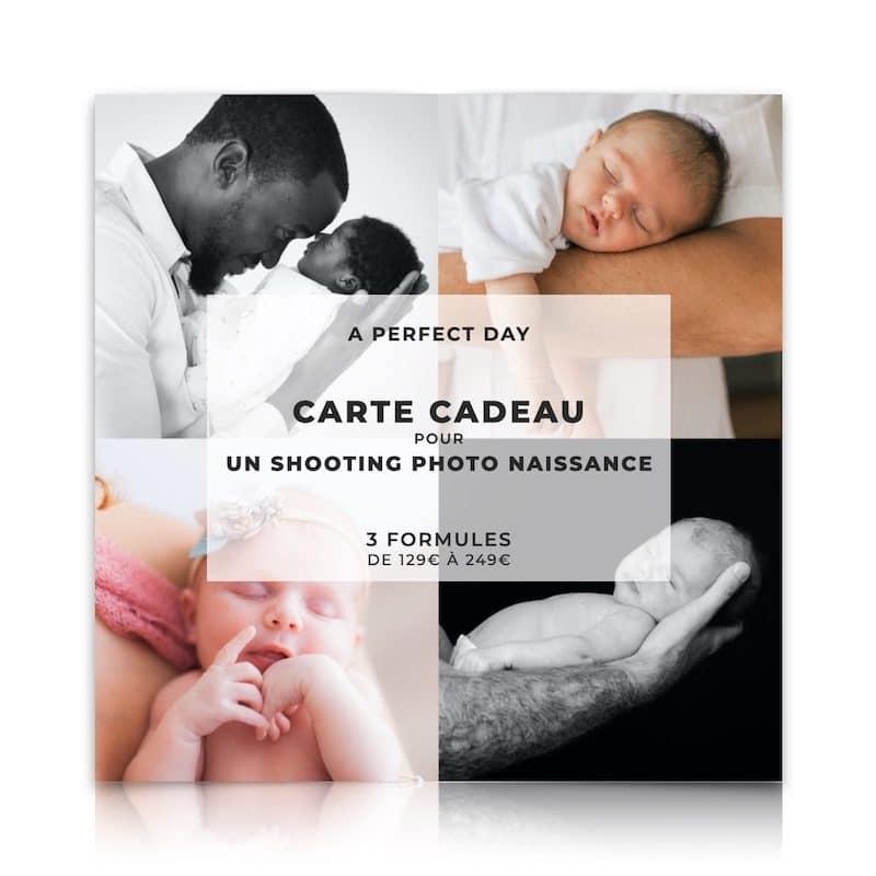 carte cadeau pour un shooting photo naissance