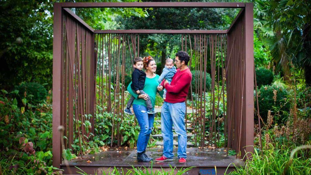 photo de famille au jardin des géants à lille