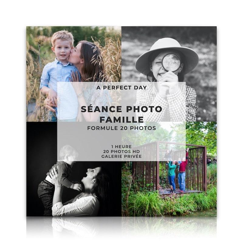 Séance photo famille d'une valeur de 189€, à réaliser en extérieur ou a domicile