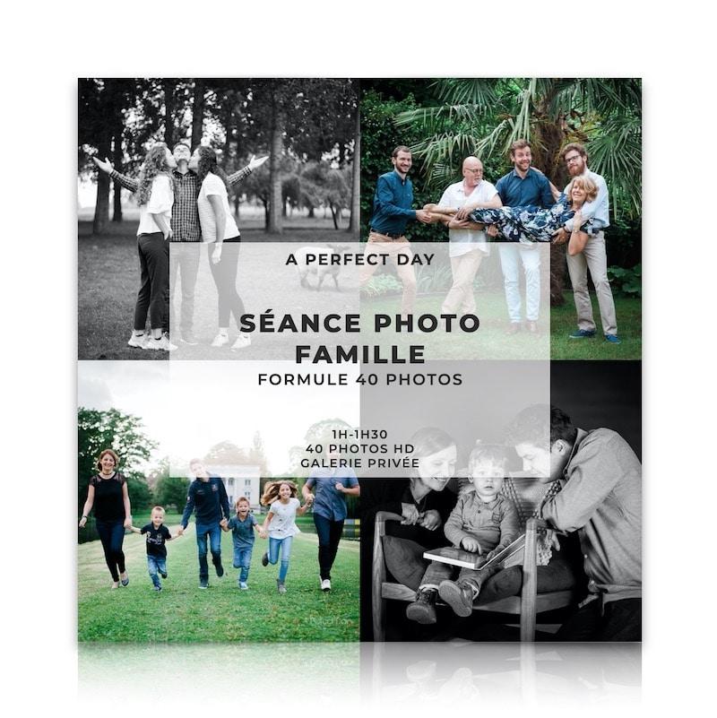 Seance photo famille d'une valeur de 239€