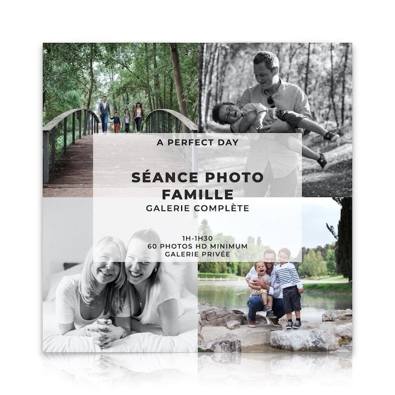 Séance photo famille d'une valeur de 289€