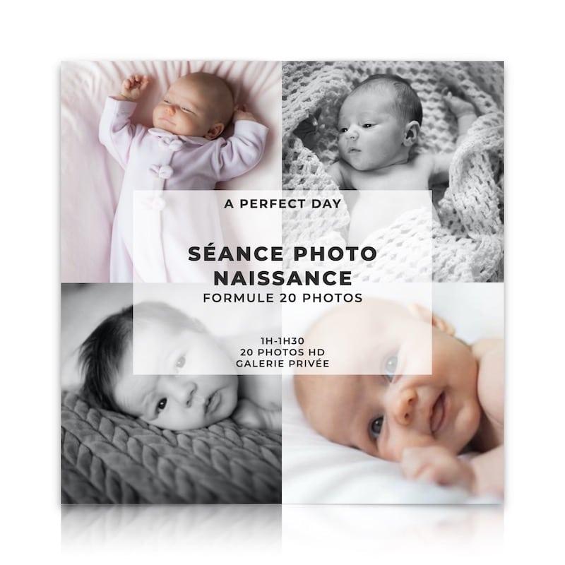 shooting photo naissance formule 20 photos HD d'une valeur de 189€