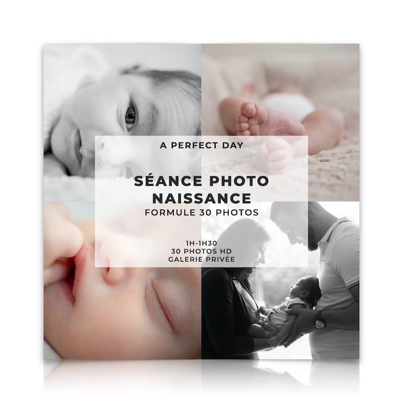 shooting photo bébé naissance  formule 30 photos HD d'une valeur de 249€