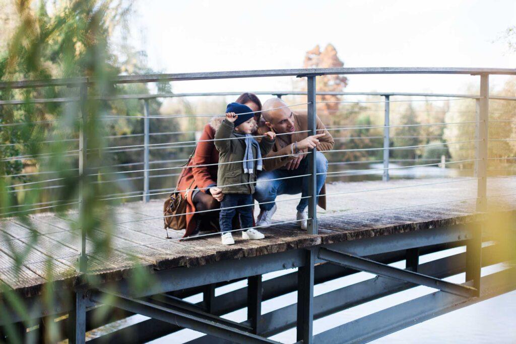 portrait de famille au parc Mosaïc